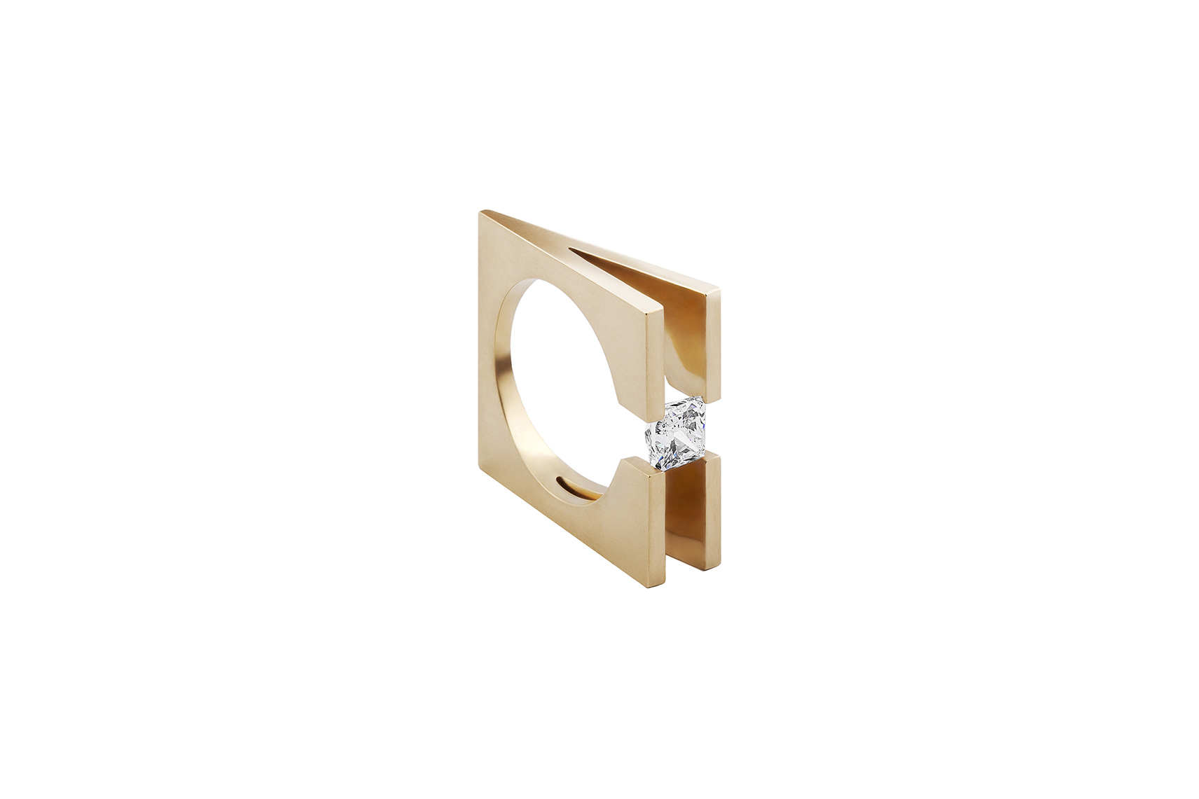 DEMURE RING YELLOW GOLD 18K 0.70 CT DIAMOND