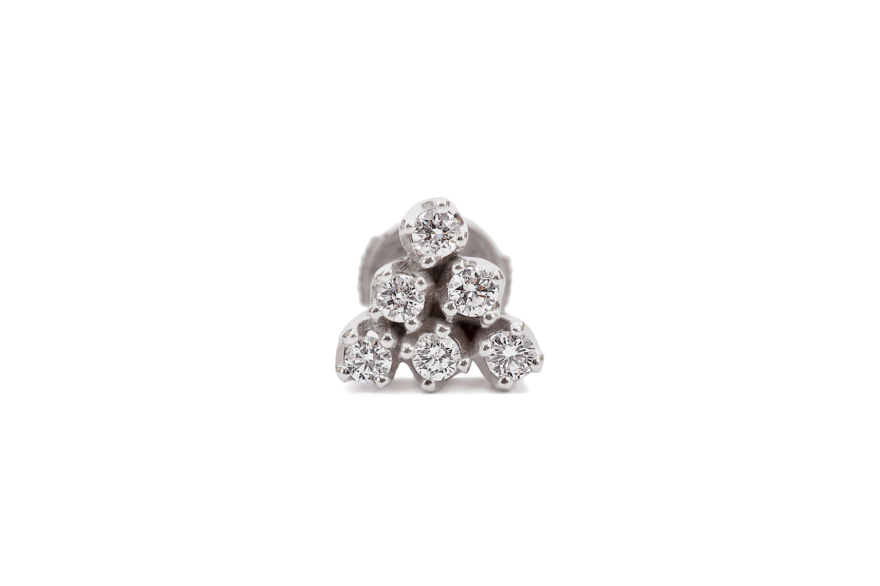 CYPHER 6 EARRING WHITE GOLD 18K 0.25 CT DIAMOND