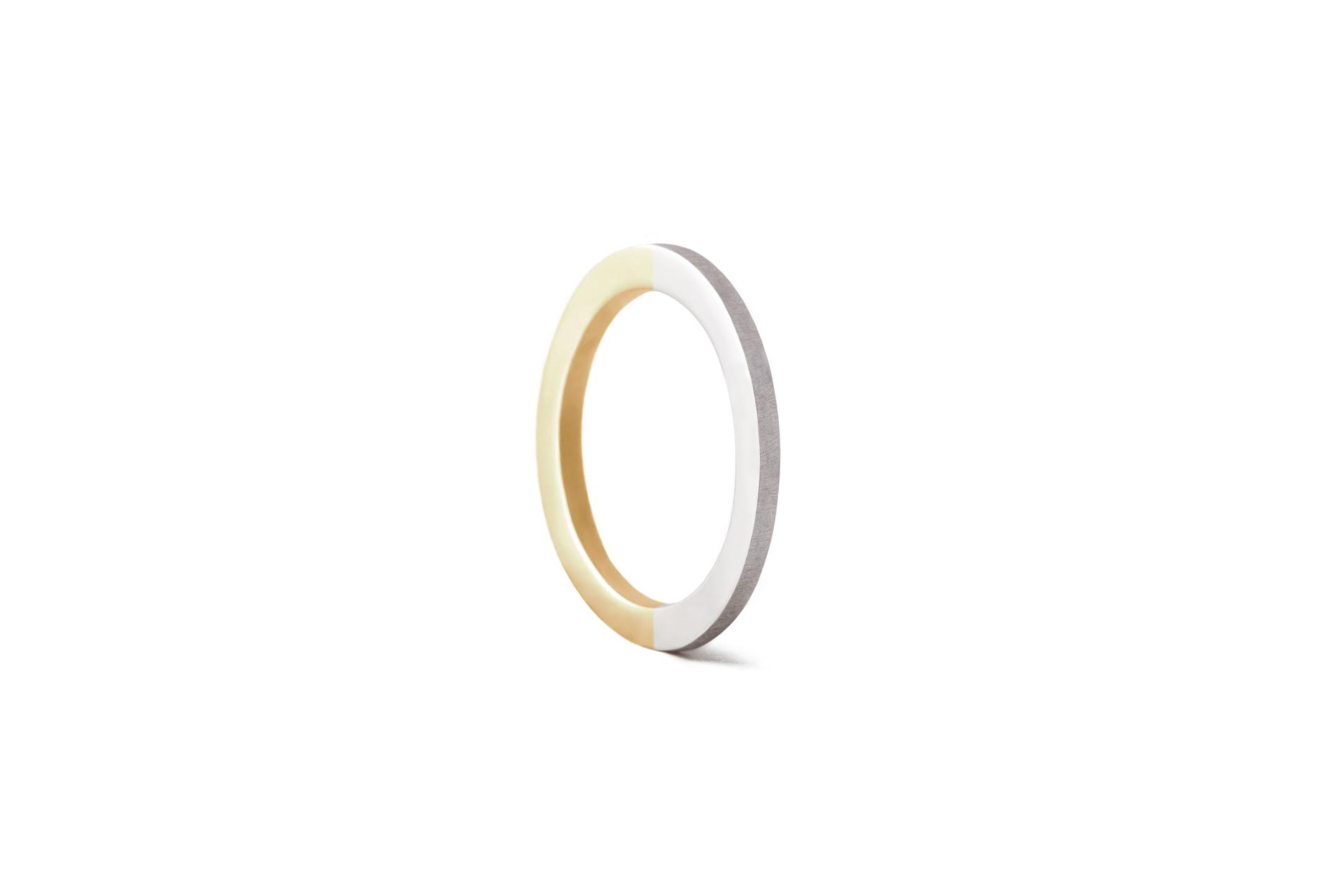 CREST WY RING 18K WHITE GOLD & 18K YELLOW GOLD