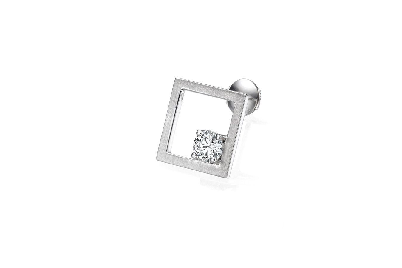 RATIO M+ EARRING 18K WHITE GOLD 0.50 CT DIAMOND