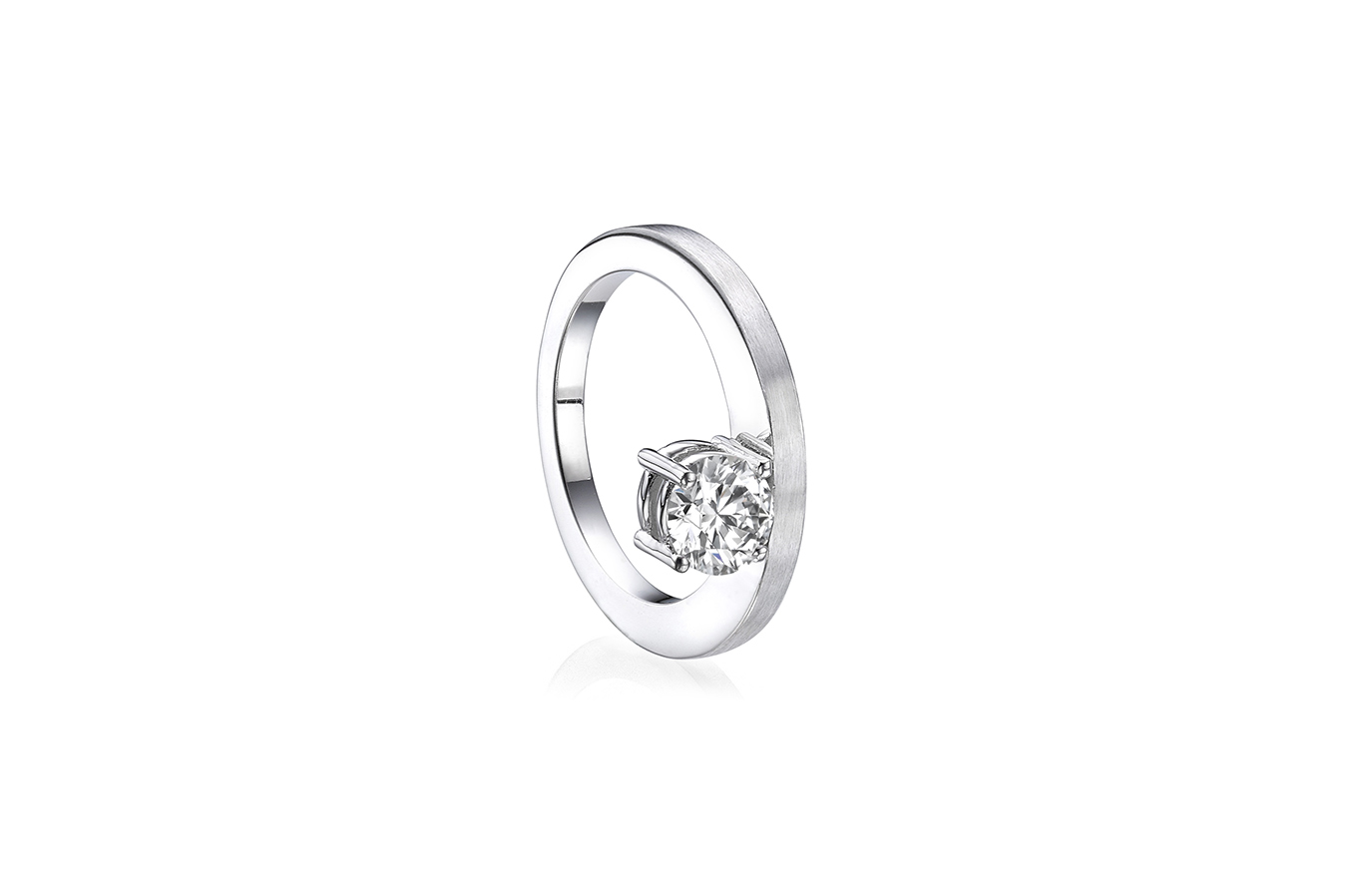 ANOTHER RING 18K WHITE GOLD 0.70 CT DIAMOND
