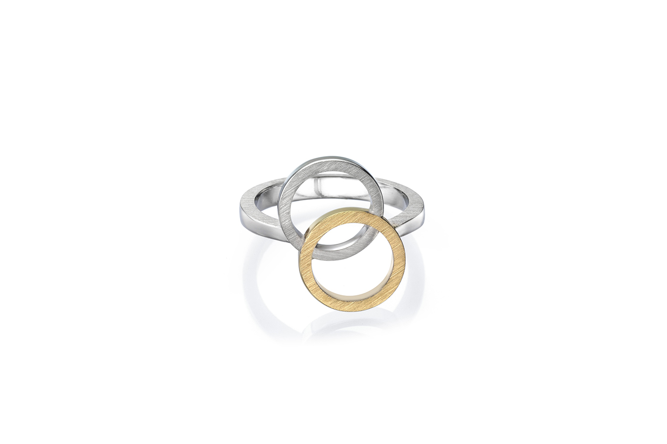 AFFINITY WY RING 18K YELLOW & WHITE GOLD