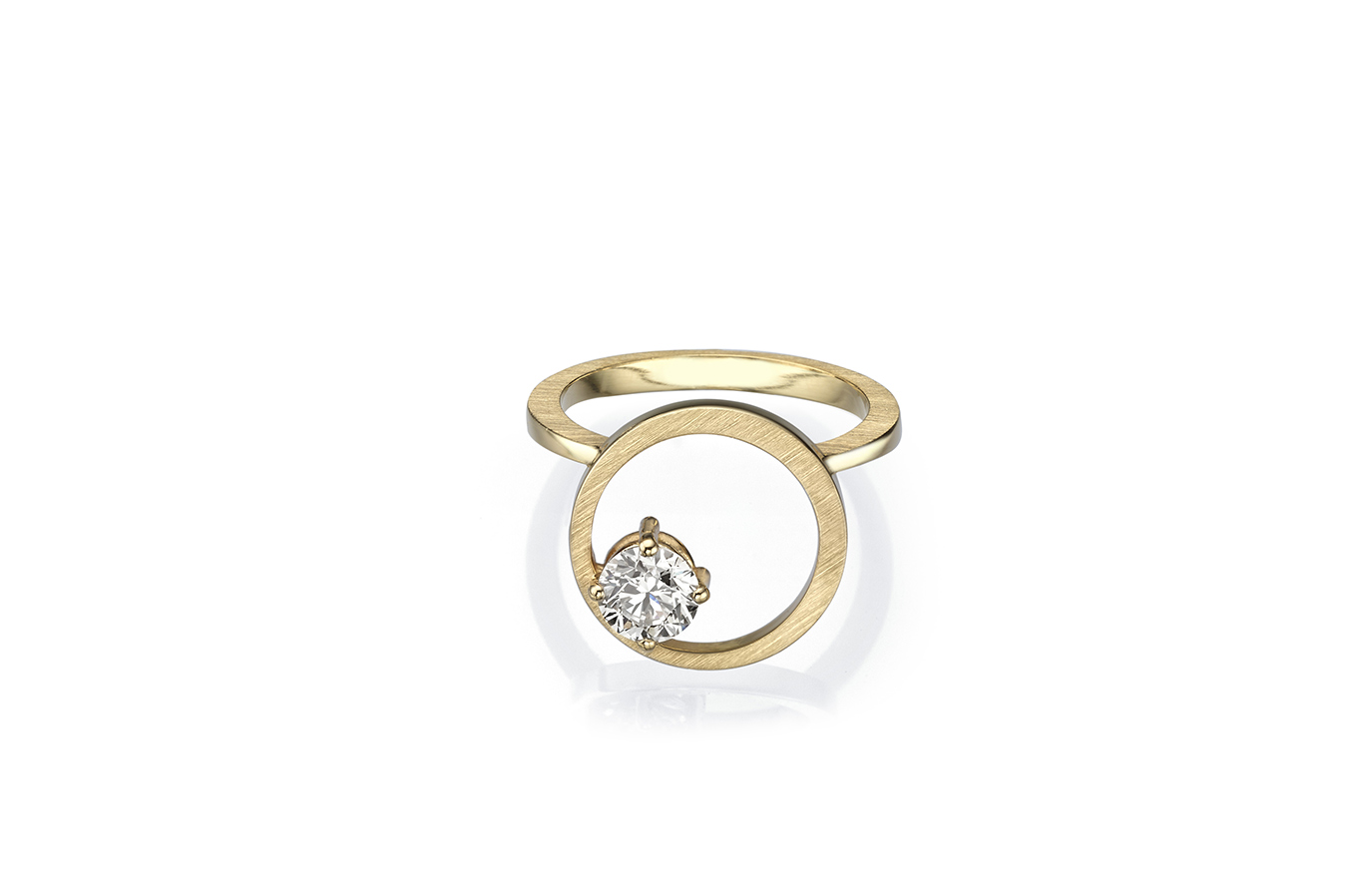 EXTRACT B RING 18K YELLOW GOLD 0.50 CT DIAMOND