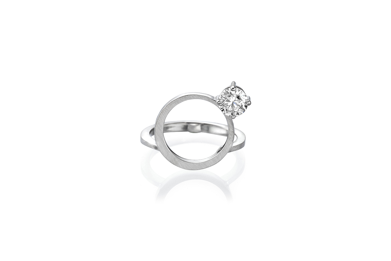 EXTRACT A RING 18K WHITE GOLD 0.50 CT DIAMOND