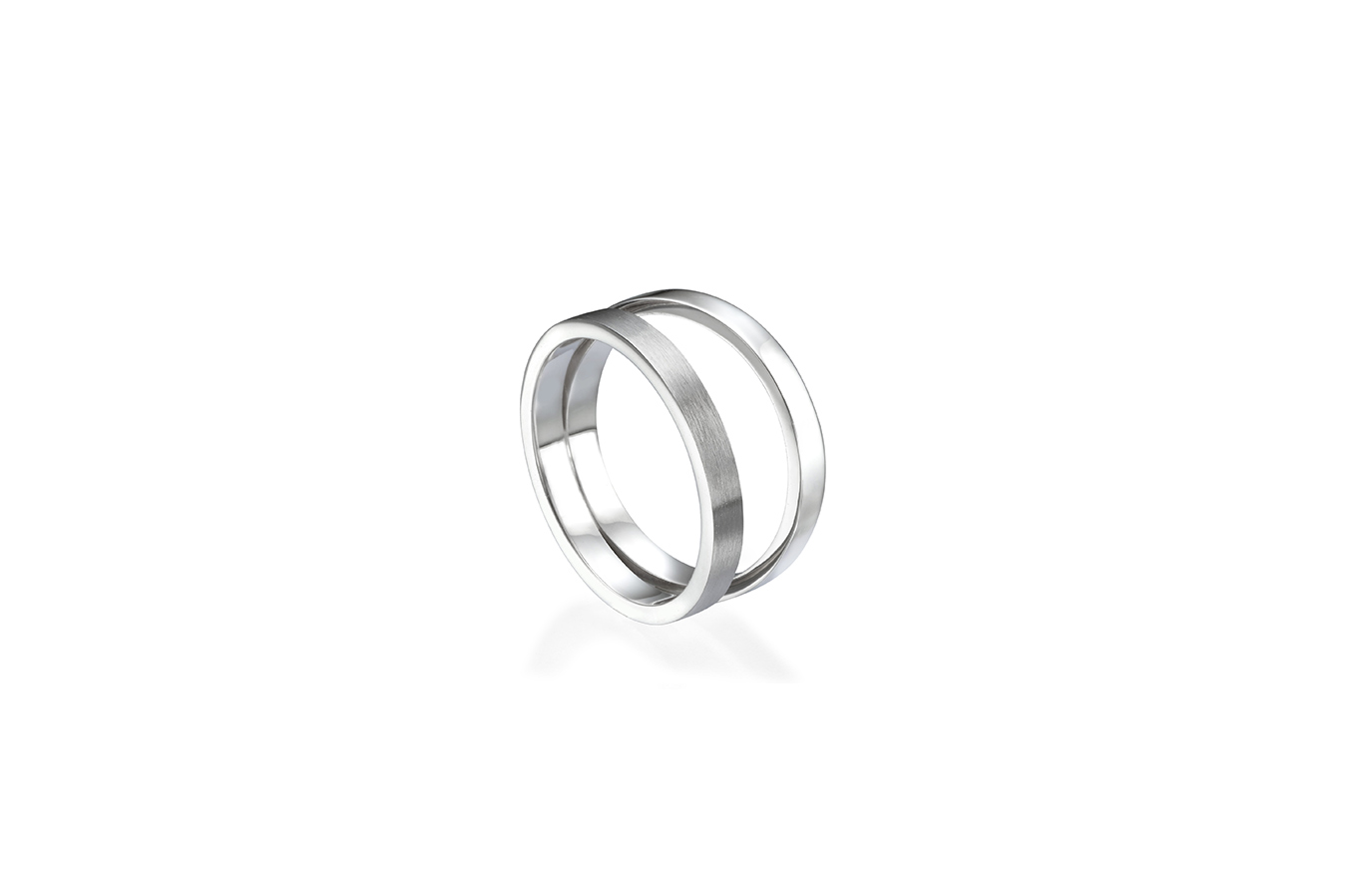BECKETT RING 18K WHITE GOLD