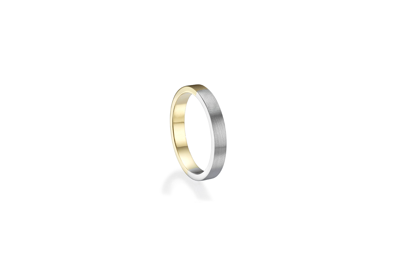GLENN RING 18K WHITE & YELLOW GOLD