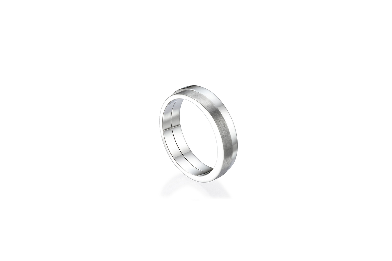 LEONARD RING 18K WHITE GOLD